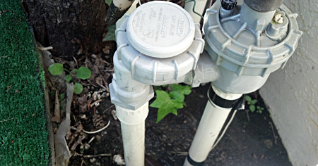 Backflow prevention device installed by an irrigation contractor in Kirkland Washington